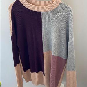Oversized colour block sweater